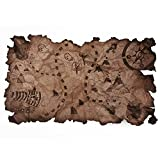 Mapa del Tesoro capitán de la Fiesta Pirata Bordes Rasgados Vintage Mapa náutico Antiguo para niños Disfraz de Pirata decoración de Mesa Pared 1 Pieza