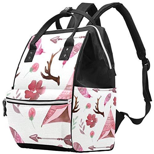 Colorful Bohemian Travel Rucksack Casual Daypack Maternity Nappy Bag Organizer Nursing Bottle Bag