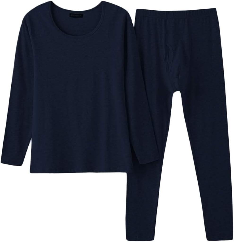 LoveinDIY Men's Thermal Top Winter Inner Warm Tops&Long Johns Underwear Set