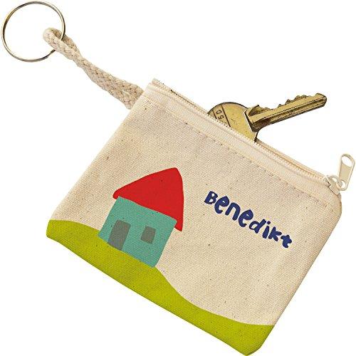EDUPLAY 230046 Schlüsseletui, Baumwolle, 10 x 8 x 0,3 cm (1 Stück)