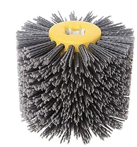 SIGNI New Abrasive Wire Drawing Wheel Drum Burnishing Polishing Brush for wooden furniture floor polishing 120X100mm 80 Grit 1pack