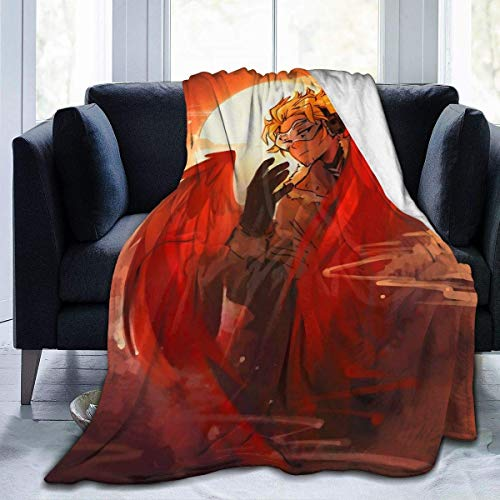 My-Hero-Acade-mia Hawks - Manta de franela de forro polar de microfibra de felpa, colcha de cama para sofá de 127 x 152 cm