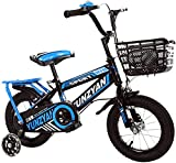 Bicicleta para niños, de 2 a 5 años, para niños y niñas, de 12 a 14 Pulgadas con Rueda de Asistencia, Frenos de Mano y Canasta, D_14'