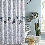 i@HOME Cortina de ducha, antimoho, impermeable, lavable, antibacteriana, de poliéster, cortina de baño con 12 cortinas de ducha