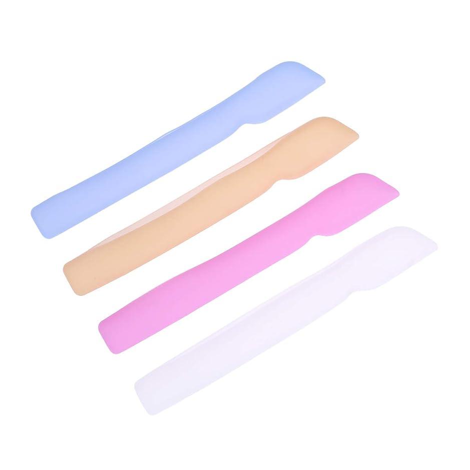 ラメビジターメジャーHEALLILYシリコン歯ブラシケースカバー歯ブラシ用保護カバー保護ケース用4本(ブルー+ピンク+ライトイエロー+ホワイト)