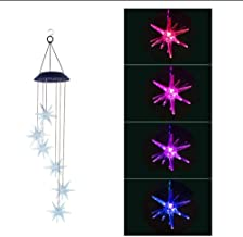 Outdoor Led Changing Light Color Waterproof Wind Chimes, Portable Outdoor Decorative Romantic Windbell Light, Hanging Deco...
