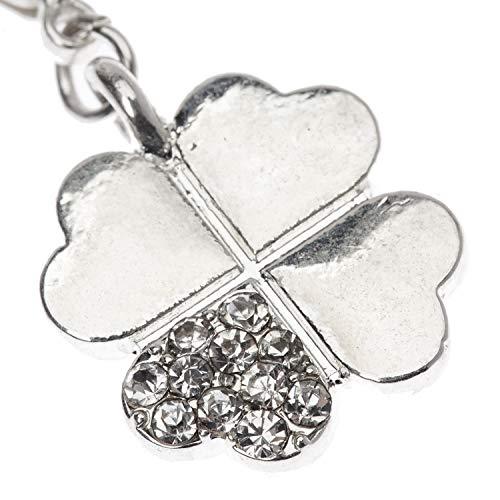 VAGA - Colgante de plata con forma de trébol de la suerte para pulseras y collares