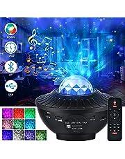 LED-stjärnhimmel projektor, 21 lägen Galaxy Light roterande LED stjärnljus 10 färgskiftande Nebu ljus projektor med fjärrkontroll Bluetooth-högtalare och timer för rum, fester, gåvor