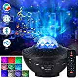 Star Projector Galaxy Night Light for Kids, Ocean Wave Starry Projector with Bluetooth Music Speaker, LED Nebula Cloud for for Baby Kids Bedroom, Night Light Ambiance for Party Birthday Wedding