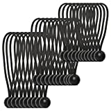 Ball Bungee, Auscoop Bungee Cords with Balls 30-Piece of 3 Sizes Heavy Duty and UV Resistant, Black