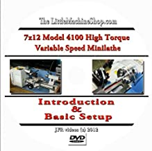 7 x 12 Model 4100 High Torque Mini Lathe Introduction and Basic Setup (DVD)