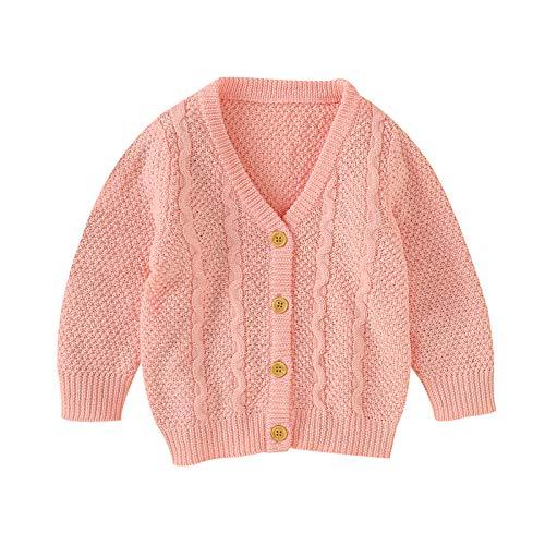 SH-RuiDu Cárdigan de punto para bebés y niños, de manga larga, cálido, para invierno, para niños de 0 a 18 meses