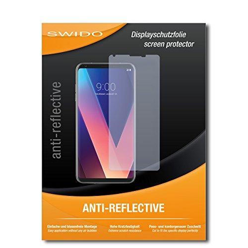 SWIDO Bildschirmschutz für LG V30 [4 Stück] Anti-Reflex MATT Entspiegelnd, Hoher Festigkeitgrad, Schutz vor Kratzer/Glasfolie, Schutzfolie, Bildschirmschutzfolie, Panzerglas Folie