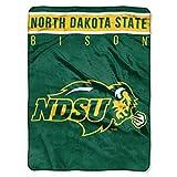 NORTHWEST NCAA North Dakota State Bison Raschel Throw Blanket, 60' x 80', Basic