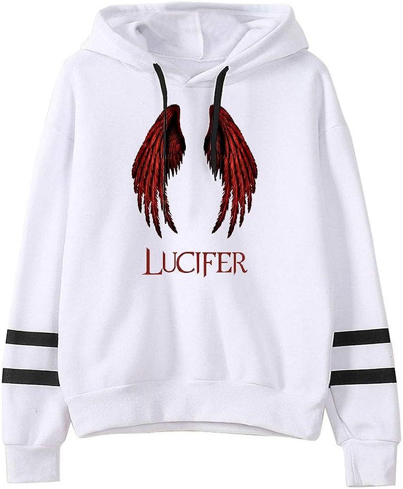 Hot TV Serie Lucifer Stagione 5 Stampa Felpe Donna//Mens Manica Lunga Pullover Felpe Harajuku Casual Con Cappuccio