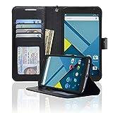 Navor LG Google Nexus 6 Folio Wallet Leather Case for Cards & Money