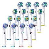 iTrunk 電動歯ブラシ 替えブラシ 16本 マルチアクション ベーシックブラシ 4本×4セット 歯ブラシ 互換 歯垢除去 歯ケア