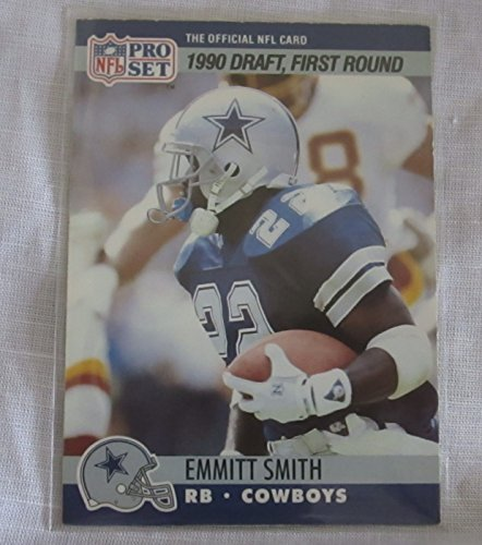 EMMITT SMITH ROOKIE CARD COLLECTIBLE TRADING CARD - 1990 PRO SET #685 (DRAFT PICK, FIRST ROUND)