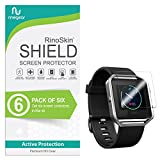 (6-Pack) RinoGear Screen Protector for Fitbit Blaze Case Friendly Fitbit Blaze Screen Protector Accessory Full Coverage Clear Film