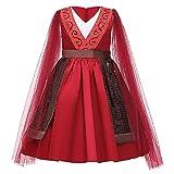 U/A Vestido de Halloween Mulan para niñas