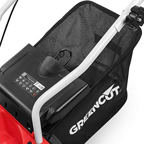 Greencut GLM660SX Tosaerba con Un Motore a Benzina OHV 5cv, Telaio in plastica 139 CC, Rosso, 40 cm
