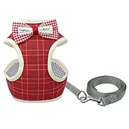 HUAJIANGHU Cute Cat Harness And Leash Set Nylon Mesh Pet Puppy Harness Lead Cat Collar Clothes Vest For Small Cats Dogs Kitten Pet Suppliess