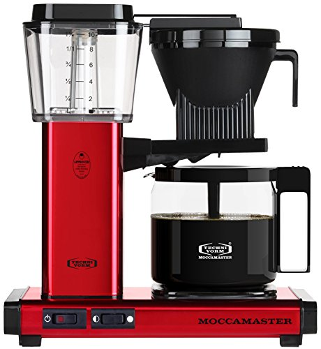Technivorm Moccamaster 59618 KBG, 10-Cup Coffee Maker, 40 oz, Red Metallic
