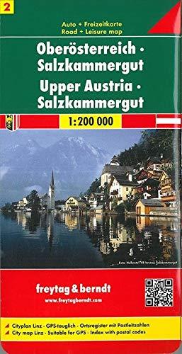 Oberösterreich - Salzkammergut, Autokarte 1:200.000 (freytag & berndt Auto + Freizeitkarten)