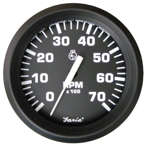 Faria 32805 Euro 7000 rpm Tachometer,Black
