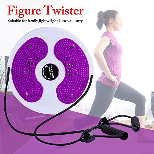 Miju Twisting Waist Disc,Twist Shape Line Body Twister Platte Sportgeräte Aerobic Fitneßscheibe Trimmscheibe für Übungen für Hüften und Taille Fitness und Bewegung elegant