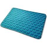 Balance-Life Grandes alfombras Suaves y absorbentes, Alfombrilla de baño, tapete Norfolk Terrier, Siluetas, Lavado a máquina o en seco