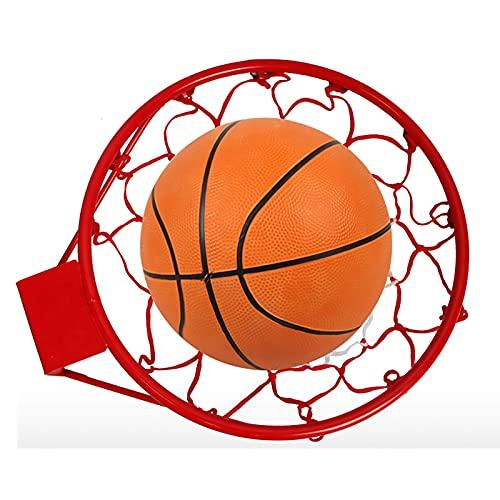Tableros portátiles de baloncesto Aro de baloncesto y red Sit, dormitorio, jardín, juegos de tiro familiares, equipo deportivo para el hogar, incluye tornillos y fijaciones para montaje en la pared (t