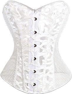 Wicky LS Womens Workout Waist Cincher Underbust Corset Body Shaper White