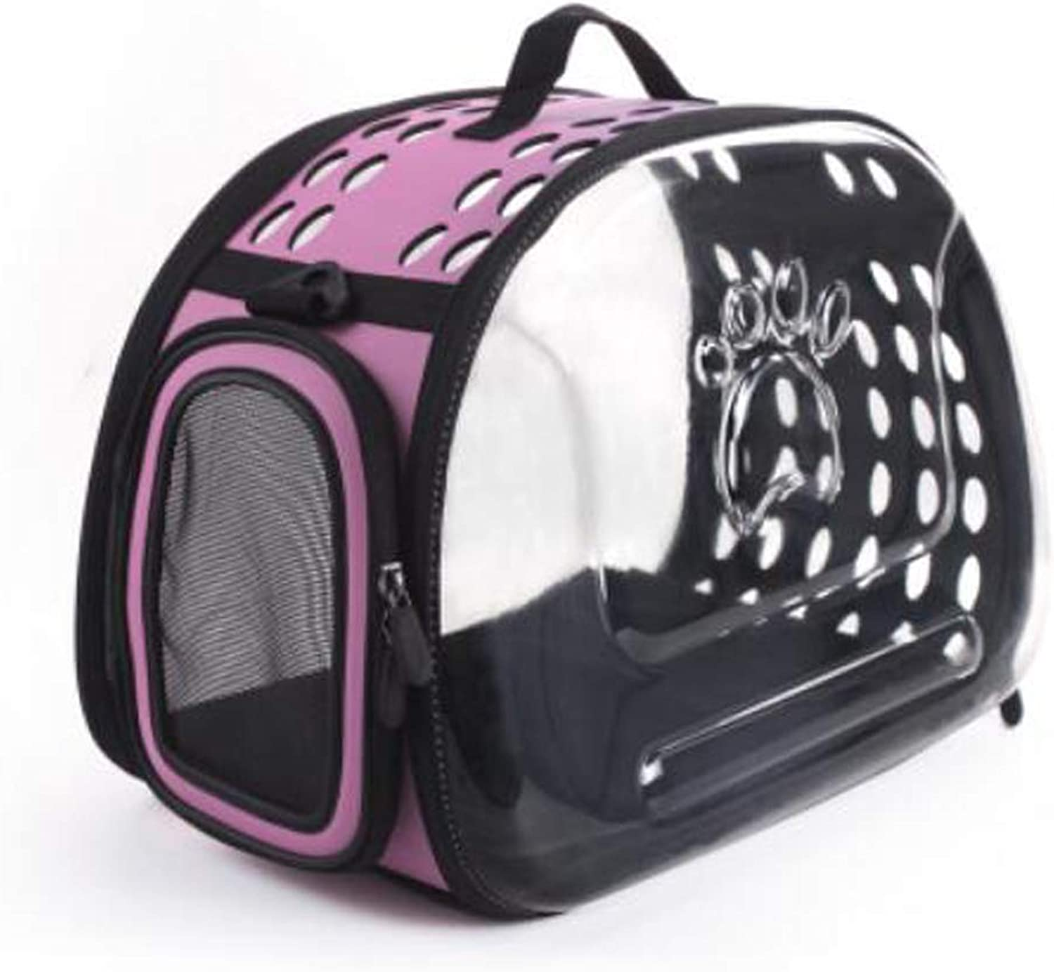 FJH Space Pet Backpack Portable Transparent Cabin Cat Bag Out Portable Dog Bag Shoulder Bag Teddy Dog Bag Cat Cage (color   Purple)