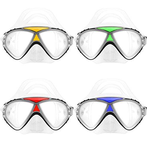 #DoYourSwimming Tauchermaske »AdvancedDiver« Schwimm-Maske/Swim Mask/Scuba Mask/Schnorchelmaske/Die perfekte Tauchmaske für das Schorcheln/Schnorchelset für Erwachsene und Jugendliche/gelb