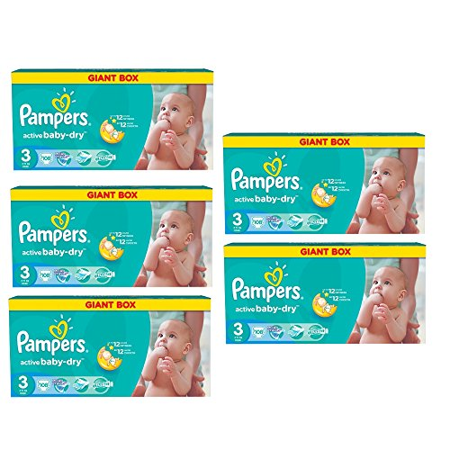 Pampers Windeln Baby Dry Midi 3 Gr. 4-9 Kg Bis zu 648 Stk. (Midi 5 x 108 = 540 Stk)