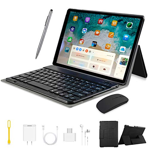 10 Pollici Tablet 4G Android 9.0 2 in 1 Tablet PC, 4GB RAM +64GB ROM 128GB Espansione e Dual SIM Full HD PC, 8000mAh Portatili e Tablet WiFi / GPS / Bluetooth Tablet Con wifi Offerte (nero)