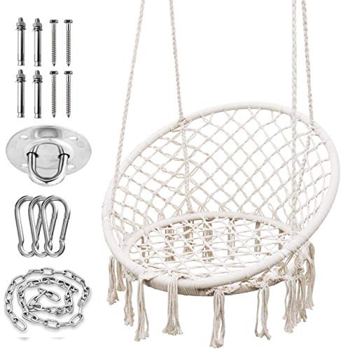 Hammock Chair with Durable Hanging Hardware Kit,...