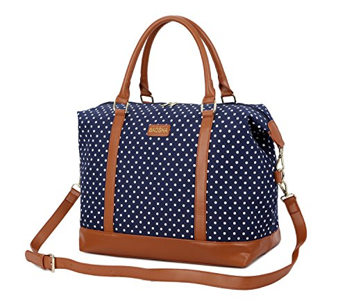 BAOSHA HB-28 Frauen Damen Canvas Holdalls Carry-on Segeltuch Reisetasche Handgepäck Weekender Trage...