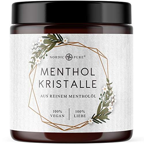 Mentholkristalle 100g von Nordic Pure | Premium Qualität für die Sauna | Kristalle aus Menthol für Saunaaufgüsse | 100{7b398faf15994b7bab1e493aa5c0e4485255a6f0e193f4c1df2190aa9b8f15f2} natürliche Inhaltsstoffe