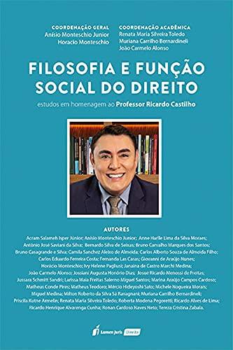 Filosofia E Função Social Do Direito - 2021