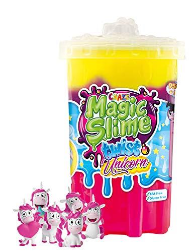 CRAZE Magic Slime Twist magischer Spielzeug Schleim Kinderschleim in Dose 950 ml inkl. Einhorn...