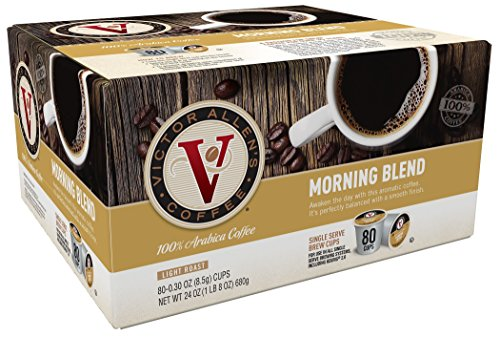 Victor Allen Coffee, Morning Blend, 80 count (pack of 1)