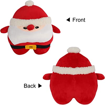Amazon Com Bigtree Santa Claus Christmas Pillow Plush 11 Inch Soft Stuffed Funny Decoration Trow Pillow Home Kitchen