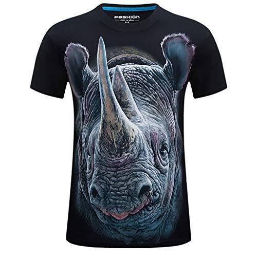 Tops Homme ete Grande Taille Mode Imprimé Dégradé Rayures Verticales T-Shirt Col Rond Manches Courte T-Shirt à Manches Casual Tops de Sport Homme Loisirs