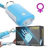 VanGuard - Sistema de Alarma móvil como un Llavero con luz LED - Llave Alarma - Sirena de móvil Ideal para niños y Adultos, Vida útil de 5 años, Dura hasta 1 Hora encendida en - Muy Alto 125 DB