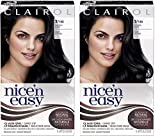 Clairol Nice'n Easy Liquid, Tinte capilar permanente de aspecto natural 2 Natural Black (ORIGINAL) 2 Pack
