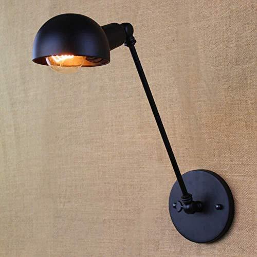 Industriële wandlamp wandlamp Task Aantrekkelijke arm verstelbaar klassiek design Alley Retro ijzer zwart wandlamp