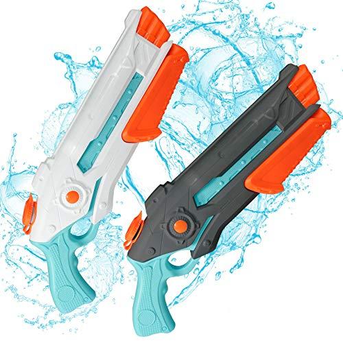Wasserpsitole Spielzeug für Kinder Erwachsene Super Water Gun Pool Soarker 2 Stück Wasserpistolen mit großer Reichweite 8-12 Meter Wasserspaß im Garten Sommer