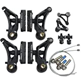 Tektro CR710 Cyclocross Cantilever Brake Set Front and Rear, Black, ST1461-Black